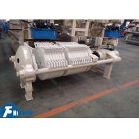 China 800*800mm Round Plate Filter Press Equipment For Clay / Kaolin Industry on sale