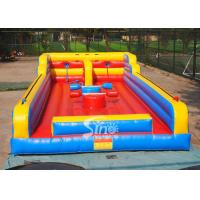 China 3in1 kids N adults interactive inflatable bungee run with joust poles from China inflatable factory wholesale
