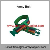 China Wholesale Cheap China Military PP  Kenya Army Plastic Buckle Police Belt wholesale