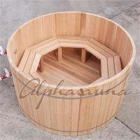 China 100% Red cedar Wooden Hot Tubs / traditional sauna kit , No electricity wholesale