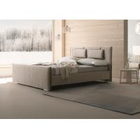 China MFC / MDF Material Modern Upholstered Bed / Soft Fabric King Queen Bed wholesale
