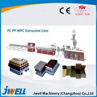 China Jwell fully automatic WPC plastic extrusion line for PE&PP wholesale