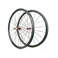 China 30MM*25MM Carbon Road Wheels  Dimple Brake Surface 700C Tubuless / Clincher wholesale