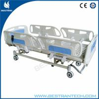 China Adjustment 750mm ICU Electric Hospital Beds With 3 - Functions Home Care Use wholesale