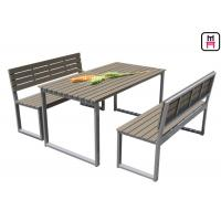 Buy cheap Plastic Wood Outdoor Restaurant Tables Commercial KD Patio Dining Sets With from wholesalers