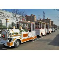 Outdoor Electric Trains Sightseeing Tourist Road Train 4m×1.65m×2.5m Train Head Size