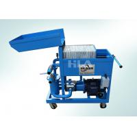China Dewatering Used Oil Plate Filter Press / Press Filtering Unit / Oil Cleaning Machine on sale