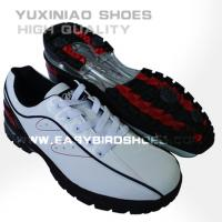China new model style fashion split leather golf shoes sneakers for male, mens colorful golf shoes sport brand from china on sale