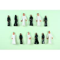 100pcs Painted Architectural Scale Model People Figures , Train Passenger Scale OO (1 to 75) Arabs  2.8cm AP75-6