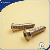 China Stainless Steel 304 316 Hexagon Socket Button Head Cap Screws ISO 7380 wholesale