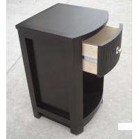 China MDF Board Bedroom Furniture Bedside Tables , Side Mounted Tall Night Stand wholesale