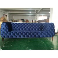 China Chesterfield velvet fabric sofa American classic style chesterfield sofa french style fabric sofa living room sofa wholesale