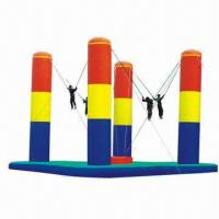 China Inflatable Bungee jump, Made of 0.55mm PVC tarpaulin/Water-/Fire-resistant/OEM Services are Welcome wholesale