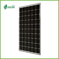 Portable 210W 36 Volt Monocrystalline Solar Panels With Silver Frame