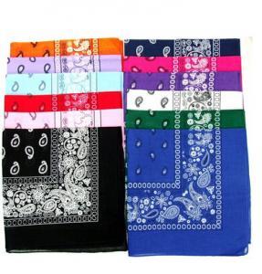 China Novelty Bandanas Paisley Cotton Bandanas wholesale