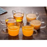 China Heat Resistant Glass Tea Set With Handle Handcraft 50ml Microwave Safe on sale