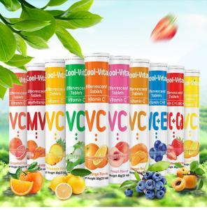 China Healthy Fruits Flavor Vitamin C Dissolvable Tablets 250mg 500mg 1000mg wholesale