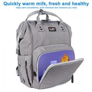 China Customized L26*D19*H43 cm LED Light UV Disinfection Diaper Bag wholesale
