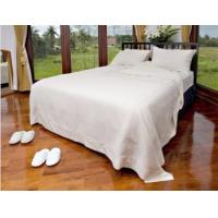 China Queen Size Luxury Hotel Bedding Set , Woven White Bedding Sets / Bedlinen wholesale