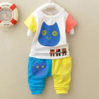 China owl baby boy clothes suit summer wear cotton virgin  Baby wear wholesale wholesale