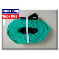 China 10000kg Flat Web Polyester Lifting Slings  Belt With Reinforced Eyes wholesale