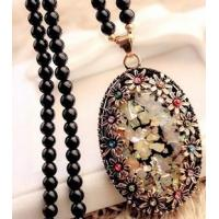 China Lovely Design Opal Long Sweater Chain Accessories Pendant Necklace wholesale