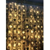 China Lotus Leaf Interior Stainless Steel Wall Sculpture Color / Size Customized on sale