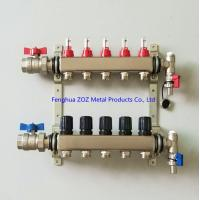 China Underfloor Heating Manifolds Stainless Steel UFH Manifold wholesale