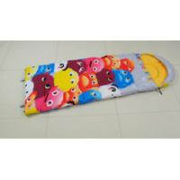 China Cartoon pattern flanned lining kids sleeping bags on sale