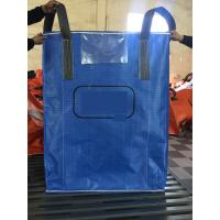 China High quality blue color PP woven circular jumbo bags with square bottom sift-proofing wholesale