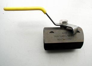Quality 1-pc Hexangular Carbon Steel Ball Valve CF8 CF8M for sale