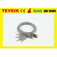 DIN1.5 socket 1m medical cable / Gold plated copper electrode cable