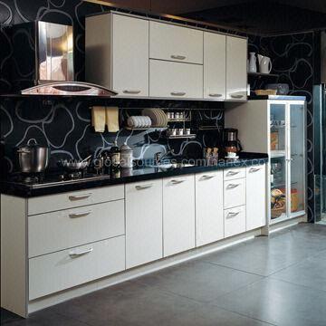 Recycling melamine chipboard modern mdf kitchen cupboard