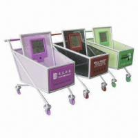 China Shopping Cart Clock with Pen Holder and Small Item Deposit Functions wholesale
