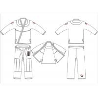 China Nature White Hemp Bjj Gi Lightweight MMA Youth Jiu Jitsu Gi Uniforms wholesale