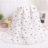 China Custom Muslin Cotton Wrap Bamboo Fabric Baby Swaddle Blankets With Warped Knitting wholesale