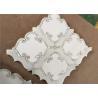 China Waterjet Natural Stone Mosaic Tile 194 X 194mm White Mosaic Wall Tiles wholesale