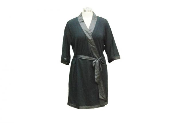 Quality Pretty Black Women'S Winter Nightgowns , Warm Ladies Long Sleeve Nighties for sale