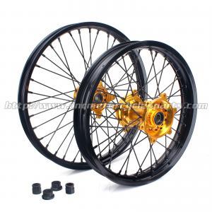 Buy cheap 習慣は21インチのオートバイの車輪の縁/黒の注文のモーターバイク動きます from wholesalers