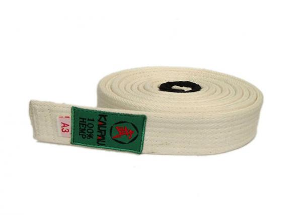 Quality Custome 100% Hemp Bjj Kimonos Martial Arts Belts White For Kids for sale