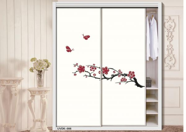 Quality High Gloss Embossed Carved 19mm Interior Sliding Door UV Coated MDF Board for sale