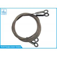 China Secure Wire Rope Cable Slings With Eyelets For Wire Hanging System on sale