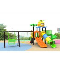 China Small Plastic Outdoor Play Children Park Toys Green Color 10 Kids Capacity With Slide wholesale