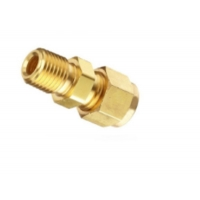 China Double Ferrule Compression Heat Exchanger Components Brass Union Connector wholesale