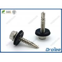 China Hex Washer Head Stainless Steel 410 Roofing Screw with EPDM Sealing washer wholesale