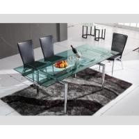 China Dining Set Hd-103a Furniture Table And Chairs Smooth Glass Table Top Surface , Dining Table , Dining Chair wholesale
