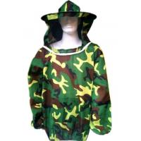 China Beekeeping Protective Clothing  Polyester Camouflage Beekeeping Jacket With Protective Beehat  Free Size wholesale