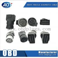China J1939 green TypeII connector obd2 female to j1939 adapter J1708 adapter on sale