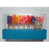 Mix Colors Funny Happy Birthday Alphabet Toothpick Candles For Girls' Party