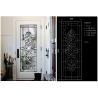 China Fashion Tempered Decorative Glass Panels Wood Grain Clear Tinted  Black Patina wholesale
